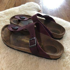 Birkenstock Gizeh Maroon Sandals